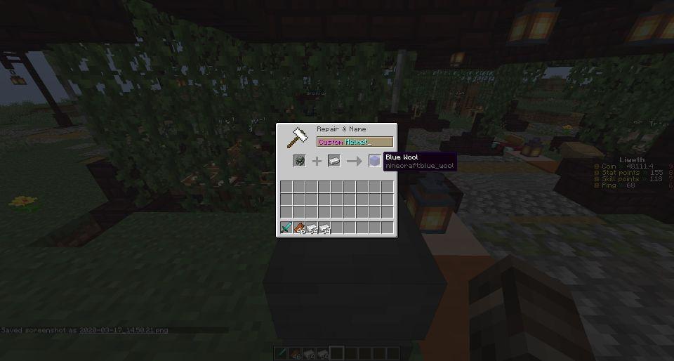 Equipment crafting